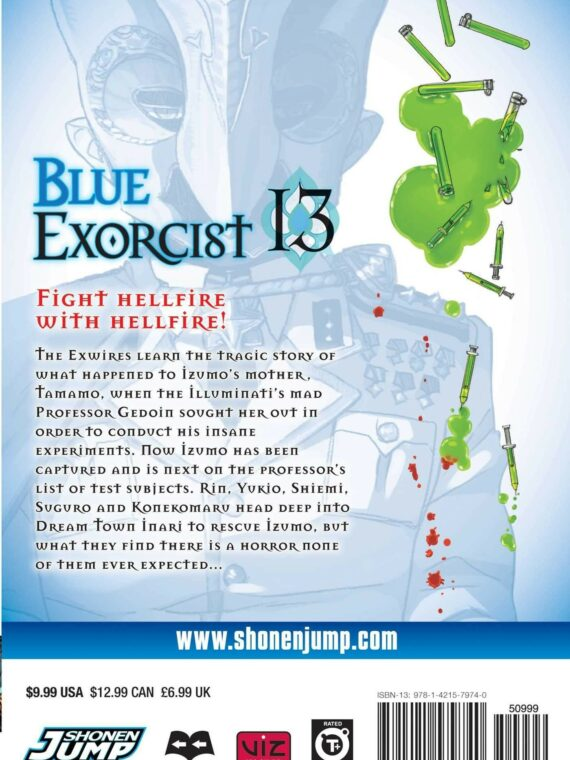 Blue Exorcist, Vol. 13 back